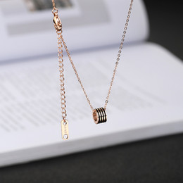 $enCountryForm.capitalKeyWord NZ - Black thread white shell small ankle pendant personality fashion guitar pendant double letter M hollow kitten necklace key clavicle chain