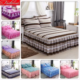 full size kids beds Australia - Adult Kids Child Boy Girl Bed Skirts With Lace Single Twin Full Queen Size Bedspreads 150x200 180x200 200x220 Bed Cover Bedskirt