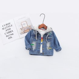 2dbf8c53f Discount jacket jeans kids boy - 2019 Spring Baby Infants Kids Children  Boys Male Hooded Hole
