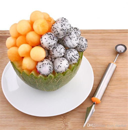 $enCountryForm.capitalKeyWord Australia - Multi Function Stainless Steel Fruit Watermelon Melon Baller Carving Knife Ice Cream Scoop Spoon Useful Kitchen Tools