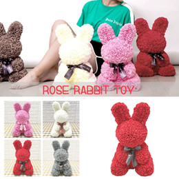 PE Rose Rabbit Toy Gift Love Lovely Decorations Birthday Simulated Artificial Romantic Girlfriend Dolls Wedding