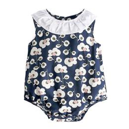 $enCountryForm.capitalKeyWord UK - Sweet And Lovely Fashion Novel Summer Baby Girl Romper Flower Print Doll Collar Sleeveless Romper For Baby GirlsA