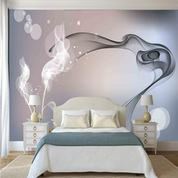 Современное искусство фантазия дым абстрактные цветочные обои большие 3d бесшовные HD влагостойкие телевизор диван спальня фон декор стены на Распродаже