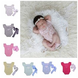 petti romper baby boy UK - Kids Clothes Boys Girls Summer Rompers Newborn Baby photography prop lace romper Toddler Cute petti Jumpsuits Infant Soft Bodysuits TL636