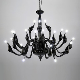 candle light kitchen NZ - 9 12 15 18 24 Heads Art Deco European Candle Metal LED Swan Chandeliers Ceiling Bedroom Living Room Modern Decoration G4 Lighting
