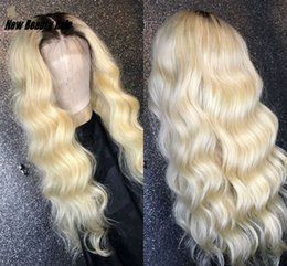 $enCountryForm.capitalKeyWord Australia - Long Brazilian loose Wave Lace Front Wig 1B  613 Ombre Blonde Colored Preplucked synthetic hair wig heat resistant for africa women