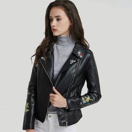 $enCountryForm.capitalKeyWord Australia - Office Lady Solid Womens PU Jackets and Coats Slim Fashion Faux Leather Jacket Turn-down Collar Motorcycle Coat