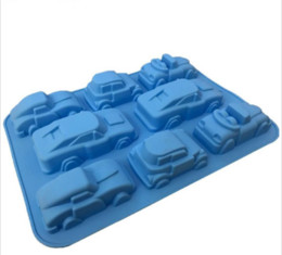 Cake Cars UK - Big Car Shape Silicone Cake Molds,Kitchen Baking Pan For Muffin Chocolate Ice Candy ,Fondant Cake Decorating Tools Accessories