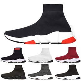 China Time-limited Speed Trainer Luxury Shoes red grey black white Flat Classic Socks Boots Sneakers Women Trainers Runner size 36-45 cheap hunting time suppliers