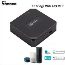 Venta al por mayor de Nueva Sonoff RF puente de conexión Wi-Fi 433MHz bricolaje temporizador inteligente interruptor remoto Controlador Inicio Fácil Instalación