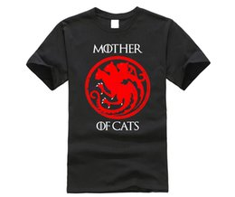 $enCountryForm.capitalKeyWord Australia - Mother Of Cats Game Of Thrones House Stark T Shirt Teenage New Arrival Tshirts T-Shirts Men's Short Sleeve Graphic Dad Tops