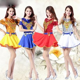 a6247bf3826 White Female Modern Jazz dancing costumes Girls Sequined Hip Hop Dress  Singer Ballroom Women DS Party Stage wear Outfits dress