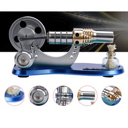 Ingrosso Modello di motore di Stirling Bootable del cilindro del metallo Modello di motore a combustione esterna Micro Modello di apprendimento Giocattoli per bambini Adulto