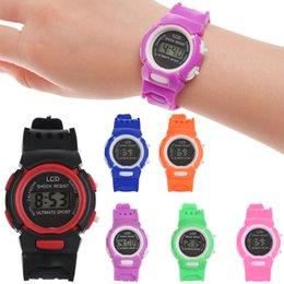 Discount arabic cartoon - Children Digital Watches LCD Wristwatch Smart Electronic Watch Cartoon Electronic Watch To boys girls Gifts Silicone Str