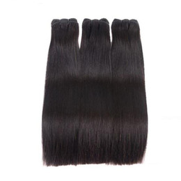 double drawn hair extensions wholesale Australia - Super 10A Peruvian Double Drawn Virgin Straight Hair Extension 3Pcs 300g Lot Unprocessed Remy Human Hair Bundles Weave Natural Color