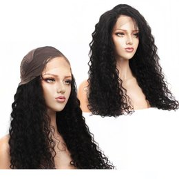 "brazilian water wave human hair Australia - Water Wave Lace Front Human Hair Wigs with Baby Hair Pre Plucked 8-24"" 13x4 Brazilian Lace Frontal Hair Wigs Remy"