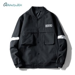 Motorcycle Jackets Free Shipping Australia - Free Shipping Casual Bomber Solid Jacket Men Spring Sportswear Motorcycle Mens Hip Hop Jackets for Male Coats Plus Size,LA455