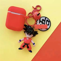 Silicone Toys Australia - Cartoon Son Goku Gohan figure Ball Z Figurine PVC Action Figures Toys Keychain Airpods Protective Cover
