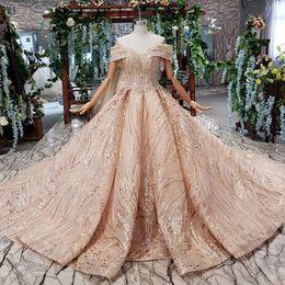 Discount wedding vintage dress pattern - 2019 Latest Saudi Arabia Wedding Dresses Sweetheart Neck Backless Lace Up Back Short Sleeve Sequins Crystal Applique Pat
