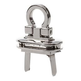China Metal Round Clasp Turn Lock Twist Lock for DIY Handbag Craft Bag Purse Hardware, Silver cheap bag hardware wholesale suppliers