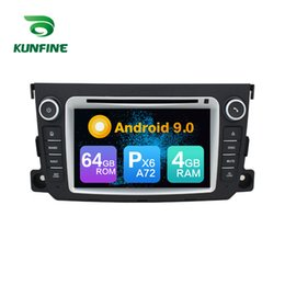 mp3 player for smart car NZ - Android 9.0 Core PX6 A72 Ram 4G Rom 64G Car DVD GPS Multimedia Player Car Stereo For Benz SMART Radio Headunit