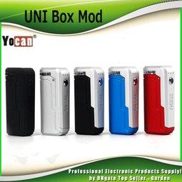 Authentische Yocan UNI Box Mod 650mAh Vorwärmen Variable Voltage VV Batterie für 510 Vape-Vape-Patrone Ecig Mods 100% Genuine