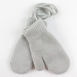 $enCountryForm.capitalKeyWord Australia - Children's Winter Thick Knitted Cashmere Double Layers Warm Gloves For Children Cute Full Fingers Gloves Mittens