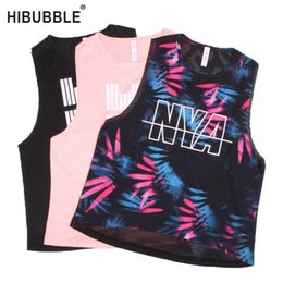 t back bras 2019 - Hibubble Back Mesh Sports Top Printing Yoga Top Sport Fitness Women Workout Fitness Women Sports Bra Match Gym T Shirt #