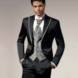 Wedding Vest Pink Australia - Men's Jacket Pants Vest Designs Men Suit Prom Groom Wedding Tuxedos Slim Fit 3 Piece Best Man Suit