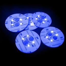 Botella LED Pegatinas de luz LED Botella de vino Glorificador Mini luz LED Coaster Taza Estera Fiesta Bar Club Jarrón de cristal Decoración de Navidad Color al azar en venta