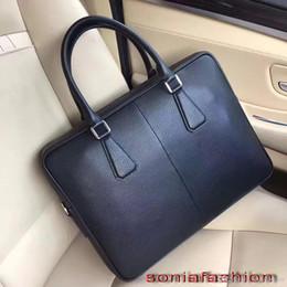 $enCountryForm.capitalKeyWord Australia - Free shipping hot sell men bag import genuine leather briefcase fashion zipper around man computer bag with long strap