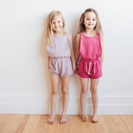 Girls Shorts Braces NZ - Girls Suspenders Summer kids Jumpsuit Girls shorts cotton baby Braces Suspenders clothes 2019 Summer Kids designer Clothing