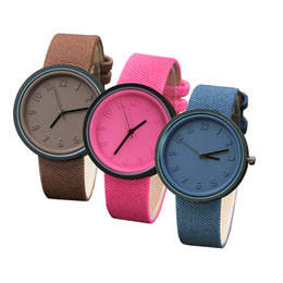 $enCountryForm.capitalKeyWord Australia - Unisex Simple Fashion Number Watches Quartz Canvas Belt Wrist Watch nightmare before christmas dress bracelet 2019