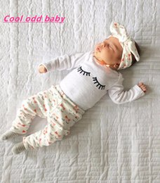 BaBy floral shirts online shopping - 3pcs set Newborn Baby Girl Clothes casual Long Sleeve T shirt Floral Pants Leggings Headband Outfits set baby girl clothing
