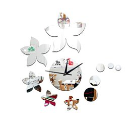 Mirror Arts Australia - 11pcs set Mirror Surface Wall Sticker Floral Shape Art Wall Decal for Home J2Y