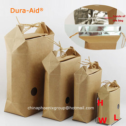 free kraft paper Australia - 50pcs size L9*W5*H11cm rice paper packaging rice paper bags for weddings kraft-paper-bag with zipper and window free shipping