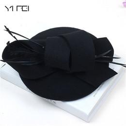 $enCountryForm.capitalKeyWord Australia - Women Wedding Hats Hair Accessories Fascinator Hat Autumn Winter Hollow Veil Wool Felt Women Fedoras Cocktail Formal Dress Hats Y19070503