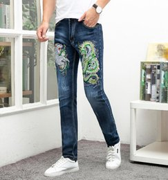 $enCountryForm.capitalKeyWord NZ - 2019 Brand jeans men blue embroidery high quality ripped disressed homme denim trousers plus size 29-38 full length male pants