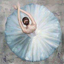 $enCountryForm.capitalKeyWord Australia - Hand Painted Oil Painting Canvas Abstract Figure Ballerina girl Picture Framed Painting Wall Art Living Room Bedroom Wall Decor