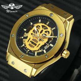 $enCountryForm.capitalKeyWord Australia - Fashion Skull Men Sports Watches Skeleton Automatic Gold Watch Mechanical Rubber Strap Hip Hop Style Brand Luxury Wristwatch J190705