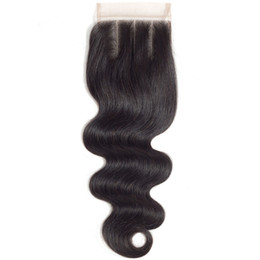 Top grade my queen brazlian human hair 4*4 Swiss hd lace closure frontal body wave with baby hair on Sale