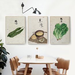 pink decorative paintings Australia - HAOCHU Traditional Chinese Style Kitchen China Town Restaurant Decorative Canvas Painting Wall Mural Delicacy Meal No Frame