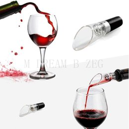 Red kitchen tools set online shopping - Red Wine Aerator Pour Spout Bottle Stopper Decanter Pourer Aerating Portable Bar Tools Bar Sets Kitchen Accessories