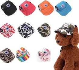 Fallen Hats Australia - Pet Dog Canvas Hat Sports Baseball Cap with Ear Holes Summer Outdoor Hiking for Small Dogs Size S M Pet Supplies 200pc p98