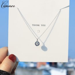 silver chain delicate wholesale NZ - Delicate Zircon Evil Eye Necklace Women Choker Blue Crystal Round Necklace Silver Rose Gold Chain Minimalist Jewelry Q4