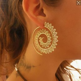 swirl earrings NZ - Swirl Heart Earrings Gypsy Tribal Ethnic Earrings Boho for Women Jewelry e0447
