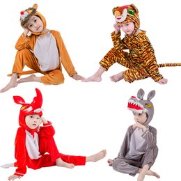 Fox Grey Australia - JinXuan Fox Wolf Tiger Lion Bear Panda Kids Children Adult Animal Costume Jumpsuit Stage Show Party mascot