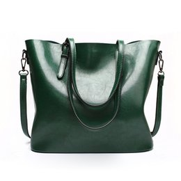 Hand Bag Large Brown Australia - 9 Color Large Capacity PU Tote Bags For Women 2019 Brown Shoulder Bags Women Leather Hand High Quality sac a main femme Red