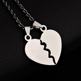 $enCountryForm.capitalKeyWord NZ - Titanium Steel Gift Love Heart Pendant Gift Lovers custom Necklace choker jewelry for women cute Hot Sale necklaces pendants