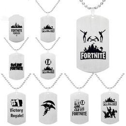 $enCountryForm.capitalKeyWord Australia - Pendant Necklace Black Stainless Steel Hot FPS Game Fans Souvenirs Gift Punk Style Men Women Necklaces Hot Fashion Jewelry